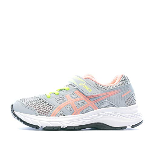 ASICS Contend 5 GS Girls Gris Rosa