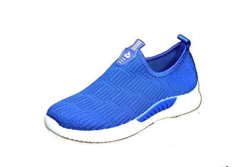 profesional ranking Anyovi Sports Casual tejido ajustable, suela de poliuretano ligera, sin cordones, azul -… elección