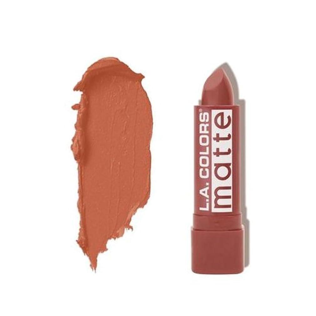 類人猿病院許容L.A. COLORS Matte Lip Color - Caramel Cream (並行輸入品)