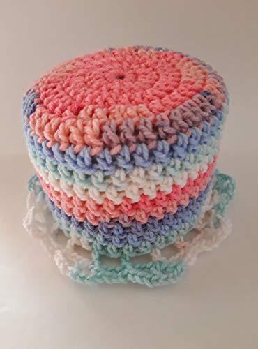 Storchenlädchen Klohut rosa blau weiß Klohüte Klopapierhut Klopapierhüte Toilettenpapierhut Toilettenpapierhüte