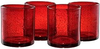 Artland Iris DOF Glass, Set of 4, 14 oz, Ruby