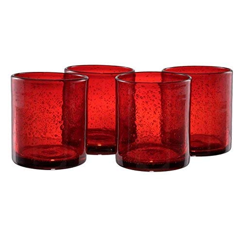 Artland Iris DOF Glass, Set of 4, 14 oz, Ruby
