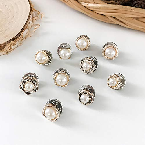 ETbotu Brooches, Pins, Kleding Accessoires 10 Stks/Set Eenvoudige Legering Broche Voorkomen Garderobe Storing Botton Decor voor Kleding