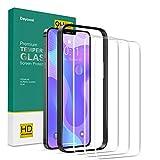Deyooxi 3 Pezzi Vetro Temperato Compatibile con iPhone 12 Mini, Curva Full Screen Pellicola Protettiva Screen Protector Film Compatibile con iPhone 12 Mini,Copertura Completa Protezione Schermo,Nero
