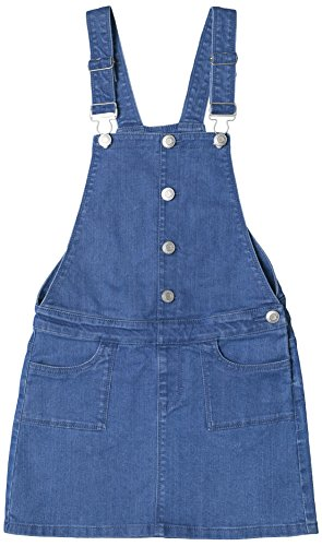 ESPRIT KIDS Mädchen Latzhose RL2100501, Blau (Medium Wash Denim 463), 140
