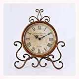Relojes de Suelo Estilo europeo Retro reloj de reloj de reloj sala de estar de la mesa de escritorio antiguo reloj de escritorio antiguo péndulo reloj de reloj de reloj de campo Reloj de jardín Reloje