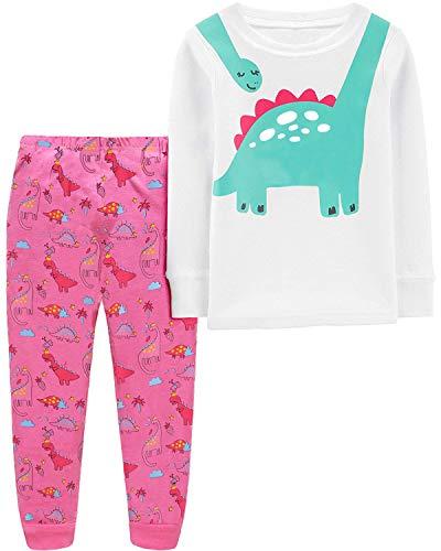 Girls Dinosaur Pajamas 100% Cotton Toddler Jammies...