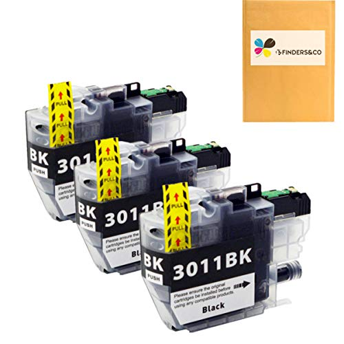 LC3011BK Black Ink Cartridge Replacement for Brother LC 3011 LC3011XL Ink Compatible with Brother MFC-J491DW MFC-J497DW MFC-J690DW MFC-J895DW Printer (3BK)