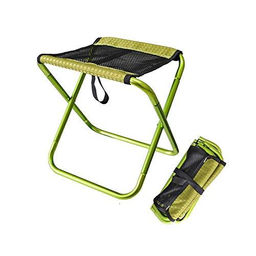 Taburete plegable portátil para acampar al aire libre de la playa, banco de pesca, silla ligera con bolsa para senderismo, viajes