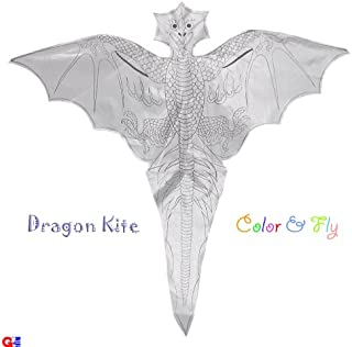 G'z Kid's Coloring Kites - Pack of 2 Dragon Kites 41.75 Wingspan