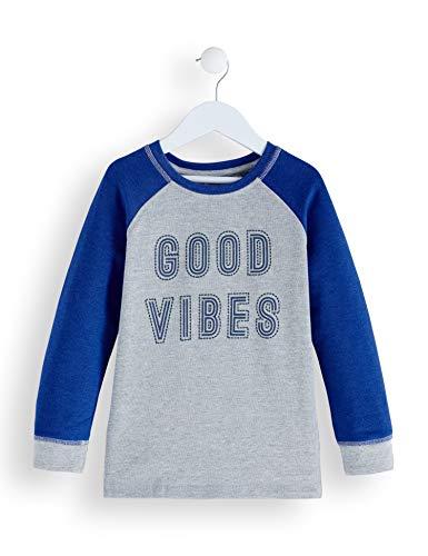 Amazon-Marke: RED WAGON Jungen Sweatshirt Good Vibes Sweater, Grau (Grey), 122, Label:7 Years