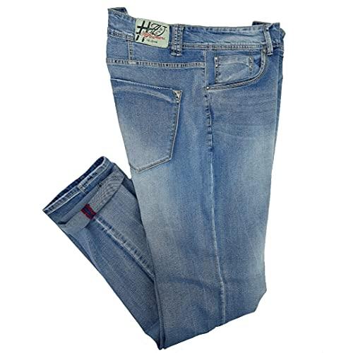 Alfio Jeans da Uomo Elasticizzato Taglie Forti Denim Chiaro 5 Tasche 56 58 60 62 64 66 (62 - Denim)