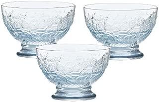 東洋佐々木ガラス デザートグラス ブルー 約10.1×10.1×7.2cm  日本製 B-55104-J221-JAN 3個入り