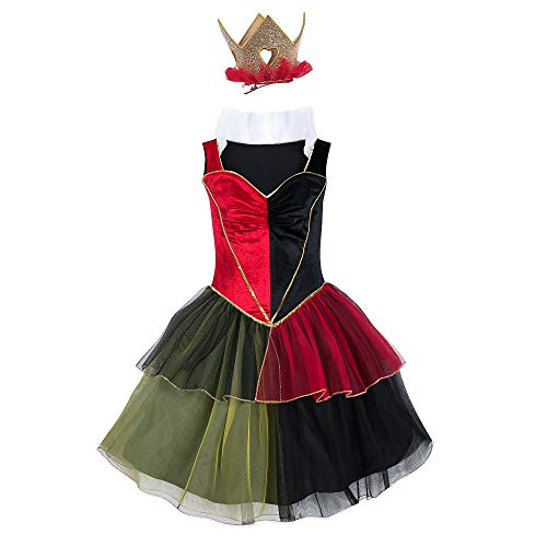 Disney Queen of Hearts Costume with Tutu for Adults - Alice in Wonderland Size Ladies M Multi