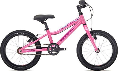 SARACEN, Mantra, bicicletta per bambini, con ruote da 1,6', di colore rosa, ultraleggera6,4kg. Adatta dai 3ai5anni.