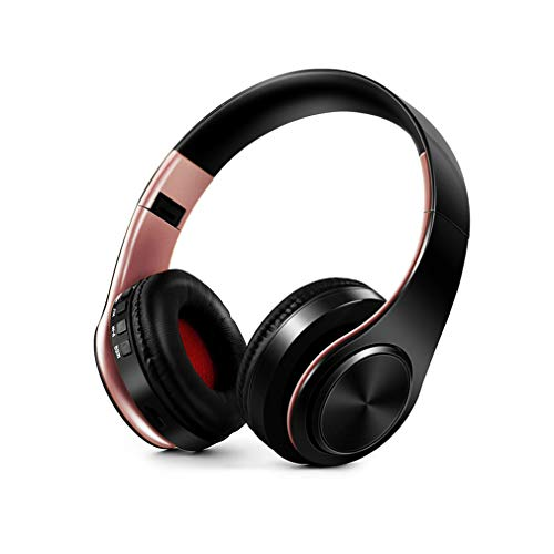 ZhHaoXin Bt Earphone Bluetooth Overear hoofdtelefoon met microfoon, draagbare stereo hoofdtelefoon met opvouwbare ruisonderdrukking voor mobiele telefoon, laptop, tablet, kantoor, tv
