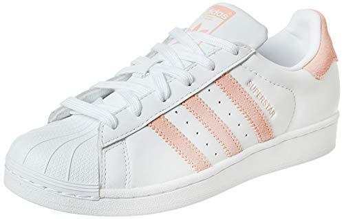Adidas Schuhe Superstar W Footwear White-Glow Pink-Core Black (EF9249) 36 2/3 Weiss