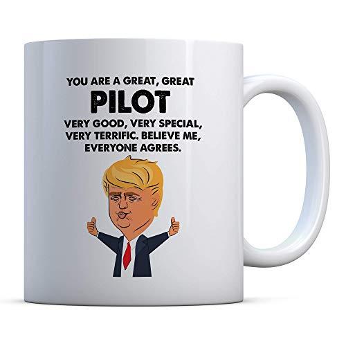Eres un gran gran piloto Trump divertido regalo de piloto cumpleaños regalo de piloto regalo de Navidad taza de café regalos de piloto taza de piloto