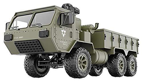 YYQIANG 6WD Simulation Truck Modelo Car 2.4g Camiones con una cámara 0.3MP para el Regalo de cumpleaños 55 Metros RC Distancia M977 Modelo de Camiones Militares de los EE. UU. Aficiones Infantiles