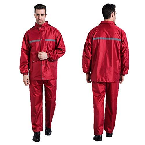 YF-Carpet Regenanzug mit Kapuze, Regenmantel für Golfmänner wasserdichte Angeljacke für Regenbekleidung und Hose 2-teilige Ultra-Lite-Anzüge