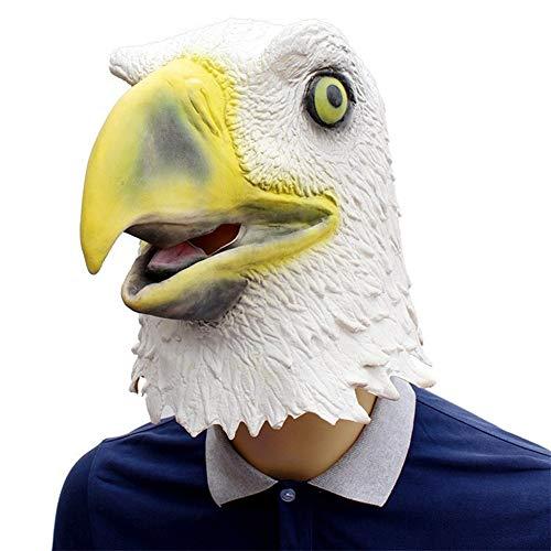 LSGNB Máscara De Águila Alza Demasiado Águila En Blanco Barra De Máscara Complicada COS Mascarada ( Color : White )