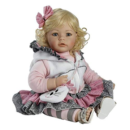 Adora Toddler Doll The Cat's Meow with cat themed outfit, hooded vest and fuzzy cat purse, 20 inches, 2020924