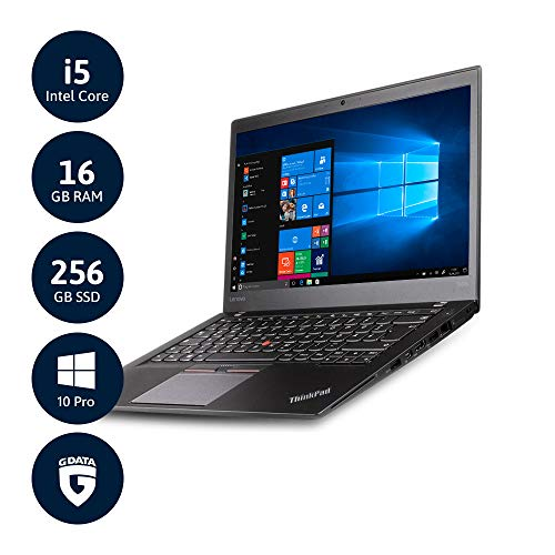 Notebook Lenovo Thinkpad T460S Slim Core i5 RAM 8Gb SSD 256Gb 14.1' Touch screen Windows 10 Professional (Ricondizionato)