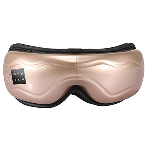 Magnet Augenmaske Augenmassagegerät Elektrisches Massagegerät Mit Intelligentem Vibrierend Schlafmaske Für Damen Herren Augen Entspannen,White