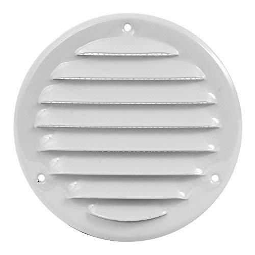 Round Soffit Vent - Air Vent Louver - Grille Cover - Built-in Fly Screen Mesh - HVAC Ventilation (4