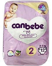 Canbebe 2 Numara Bebek Bezi Mini 3-6 Kg 12 Adet