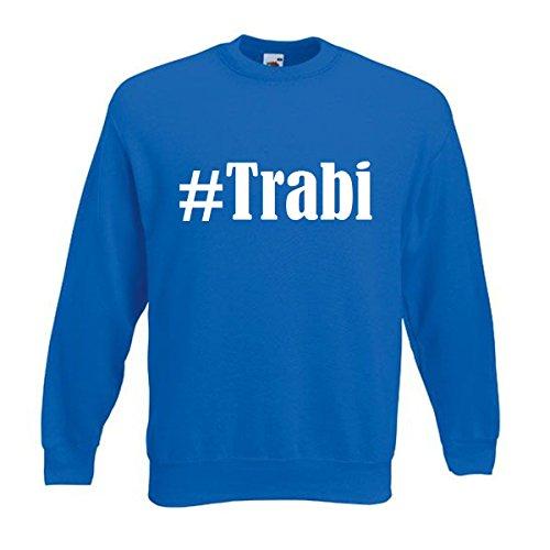 Reifen-Markt Sweatshirt Kinder #Trabi Größe 140 Farbe Blau Druck Weiss