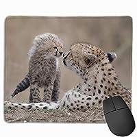 """チーターの赤ちゃん動物の捕食者プレイカスタム マウスパッド ゲーミング オフィス高級感 おしゃれ 防水 耐久性が良い 滑り止めゴム底 ゲーミングなど適用 マウスの精密度を上がる9.8""""x 11.8"""""""