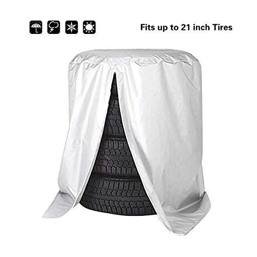 Queta Reifentasche Wasserdicht Reifen Tasche Autorädertaschen Reifenabdeckung Auto Reifen Taschen Reifenschutz für Reifentypen bis 21 Zoll Durchmesser