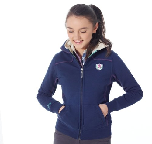 Mizz Girl's Daphne Pull à Capuche Bleu Bleu Medium