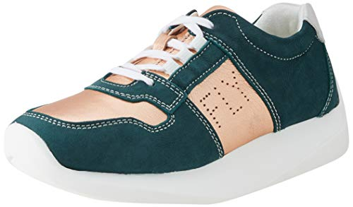 Fly London LOTT761FLY, Zapatillas Mujer, Color Verde Azulado, 37 EU