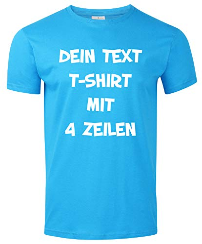 T-Shirt Bedrucken mit dem Amazon Tshirt Designer. T-Shirt selber gestalten. T-Shirt Druck. T-Shirt mit Wunschtext. T Shirts sind Ökotex-100 Zertifiziert. - Hellblau XXL