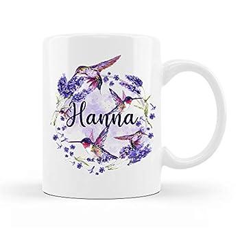 LD Buzz Hummingbird Mug 11oz 15oz - Hummingbird Coffee Mug Hummingbird Gifts for Women Humming Bird Gifts Customized Name Personalized Hummingbird Mug with Name
