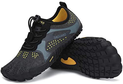 SAGUARO Chaussures Minimalistes Enfants Chaussures d'eau Pieds Nus Garçons Chaussures Aquatique Filles Séchage Rapide Chaussures Nautiques Noir GR.26