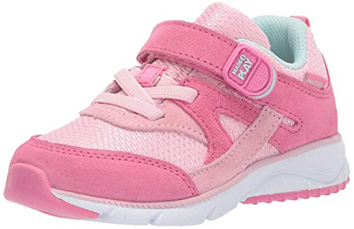 Stride Rite Baby Ace Boy's and Girl's Premium Leather Sneaker, Pink, 6 XW US Toddler