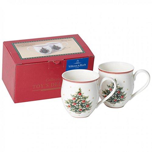 Villeroy & Boch Toy's Delight Set Tazza da Caffè, Porcellana, 340 ml, 2 Pezzi, Multicolore