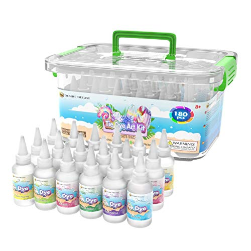 Desire Deluxe Tie Dye Kit – Set of 18 Colours Ink Tie-Dye Kits for Dyeing...