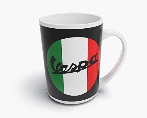 avborduurwerk Vespa Scooter kop koffiemok fotokopjes koffie mok - T088