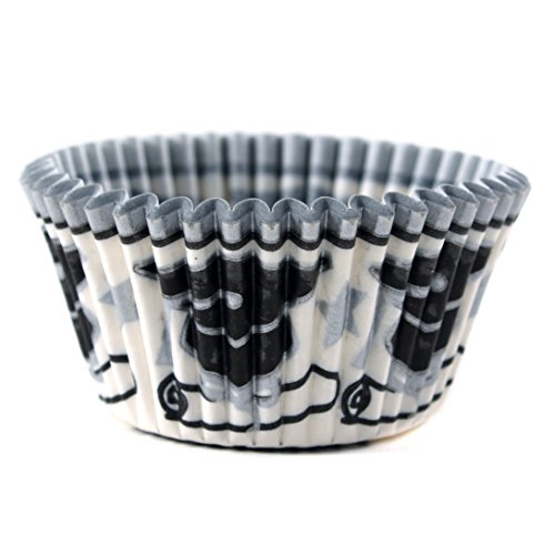 Cupcake Creations Graduation Baking Cup, Set of 32,Black and White