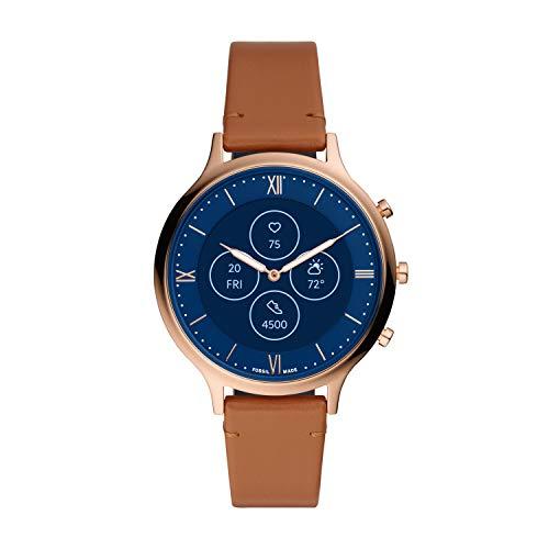 Fossil - Reloj híbrido de Cuero para Mujer FTW7033