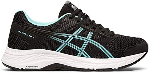 ASICS Women's Gel-Contend 5 Running Shoes, 7.5M, Black/ICE Mint