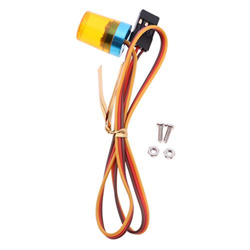 perfeclan 1/10 Escala RC Coche Policía 360 Grados de Rotación Flash Brillante Luz LED Parte de Bricolaje - Naranja