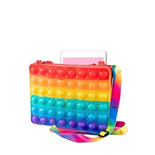 Fidget Toy Bag,Push It Fidget Schultertasche für Mädchen,Dimple Bubble Sensory Figit für Kinder,Messenger Bag Handtasche für Autismus zu entlasten Stress Angst