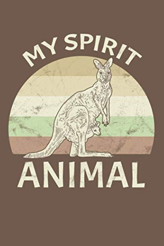 Kangaroo – My Spirit Animal: Dot Grid Journal Notebook (6x9 inches) with 120 Pages