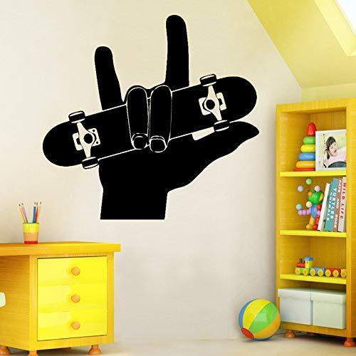 Woonkamer sofa rugleuning decoratie accessoires voor vinger skateboarden boarding wall art sticker muursticker materiaal muurschildering 58x54cm