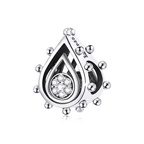 Abalorio de plata de ley 925 compatible con pulsera Pandora